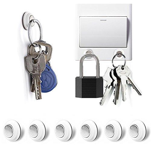 Tescat 6 Packs Magnetic Key Holder, Key Racks -