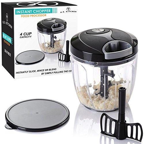 U.S. Kitchen Supply 4 Cup Instant Chopper Food Processor