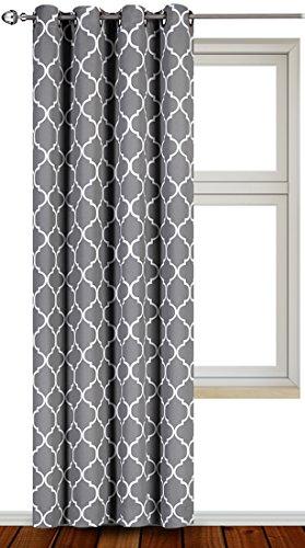 Printed Blackout Room Darkening Grommet Curtain - Window Panel