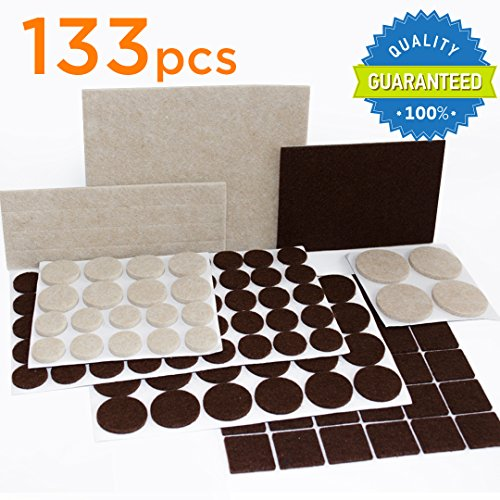 X-PROTECTOR Premium TWO COLORS Pack Furniture Pads 133 piece!