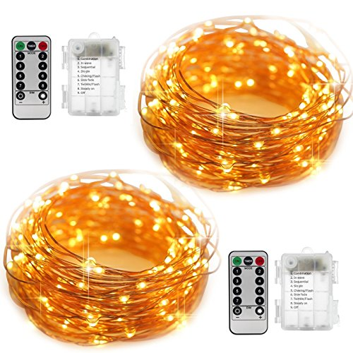 2 Set Fairy Lights Battery Operated Fairy String Lights