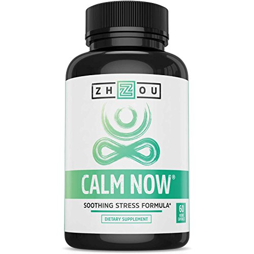 CALM NOW Soothing Stress Support Supplement, Herbal Blend Crafted