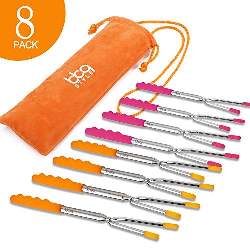 Marshmallow Roasting Sticks, Set of 8 PACK Premium 45''