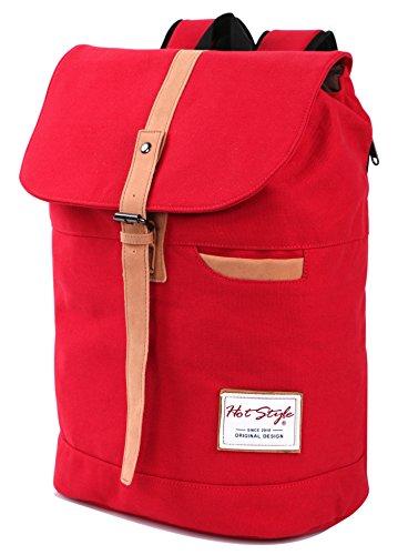 902s Vintage Canvas College Backpack Travel Rucksack - Fits