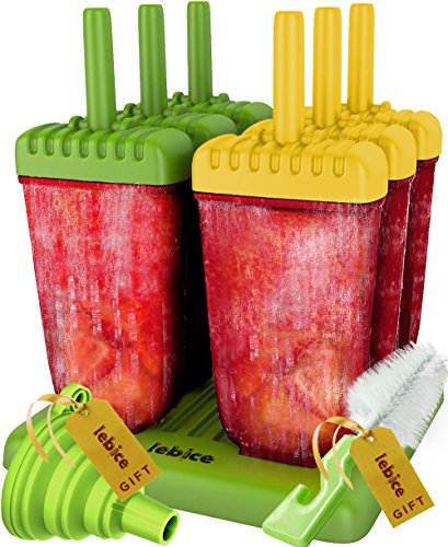 Popsicle Molds Set - BPA Free - 6 Ice