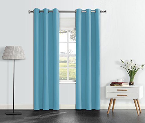 Onlyyou Thermal Blackout Curtains, Wide Width Grommet Top Insulated