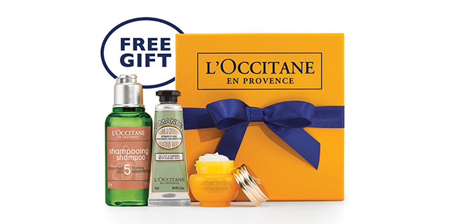 Get A Free L'OCCITANE Gift Pack!