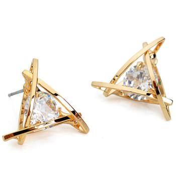 Get A Free Triangle Crystal Zircon Stud Earrings!