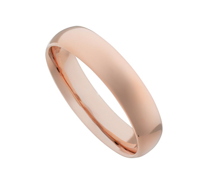 Get A Free Glossy Mirror Polished Rose Gold Stainless Steel Ring!