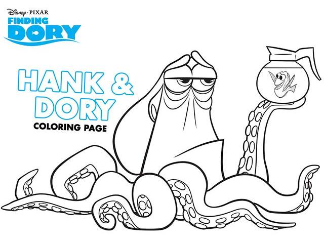 Get Free Disney's Finding Dory Coloring Pages!