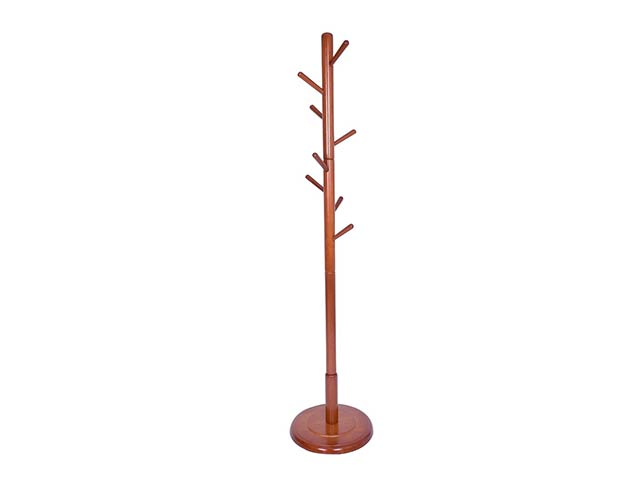 Get A Free JS HOME Wooden Coat Rack Floor Standing 8 Hooks Wood Tree Stand Walnut Finish