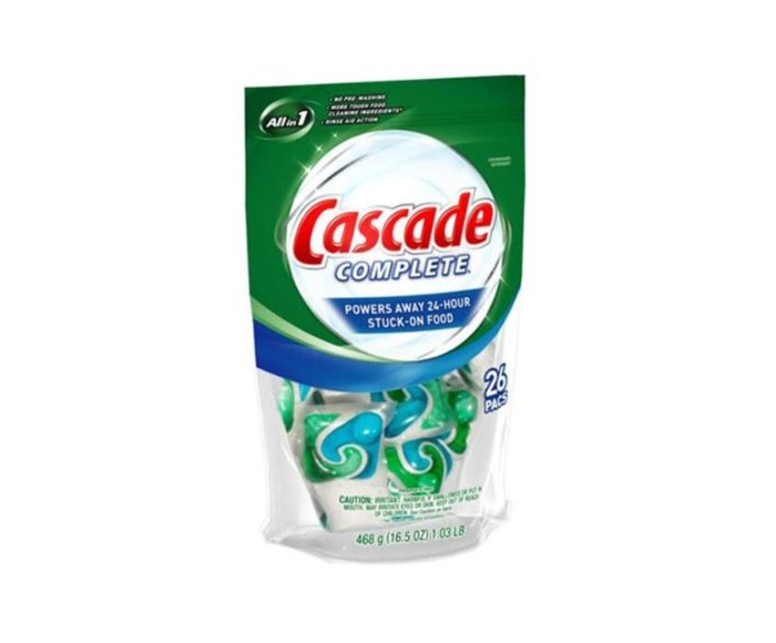 Get A Free Cascade Complete ActionPacs Dishwasher Detergent (25 Count)!