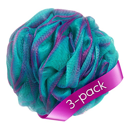 Loofah Bath Sponge Set of 3 different colors (70