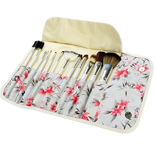 ACEVIVI 12 pcs Professional Makeup Brush Set, Vivid Rose