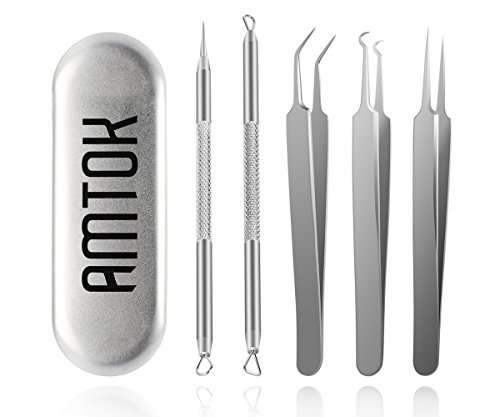 AMTOK Mother's Day Gift Blackhead Remover Kit Curved Blackhead
