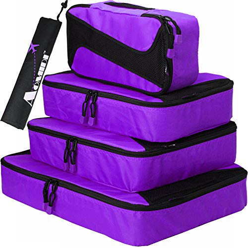 Aomidi 4 Set Packing Cubes - Travel Luggage Packing