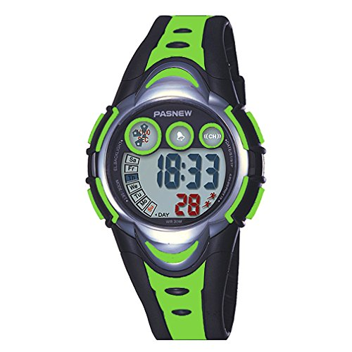 AZLAND Waterproof Swimming Led Digital Sports Watches for Children