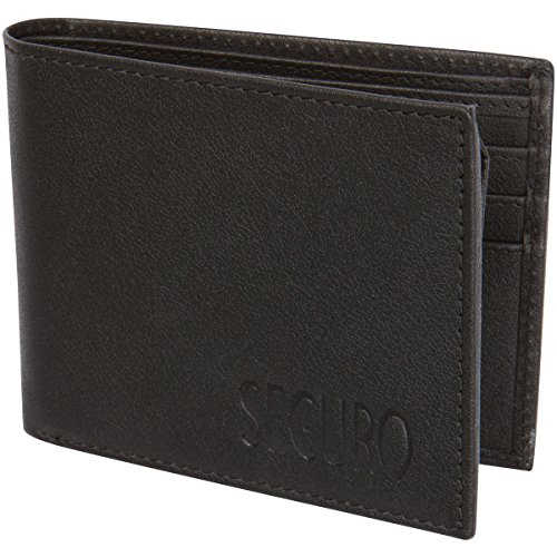 Access Denied SEGURO Mens RFID Blocking Bi-Fold Leather Wallet