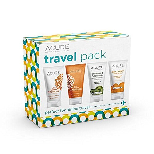 ACURE Essentials Travel Size Kit, Shampoo, Conditioner, Day Cream