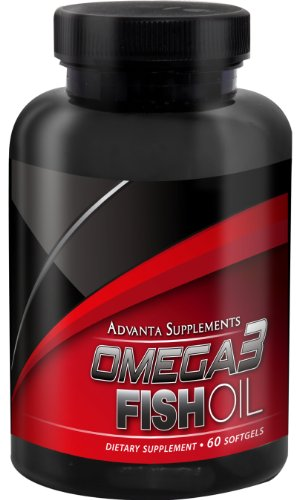Advanta Supplements Omega3 Fish Oil, 60 Softgels (Pharmaceutical Grade