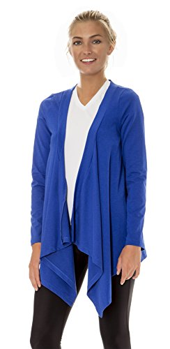 (ALW002) AeroskinDry Womens Active Lifestyle Cardigan Wrap in Royal