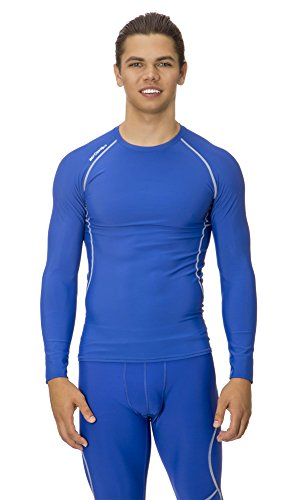 (C1002) AeroskinDry Mens Compression Long Sleeve Tee in Royal