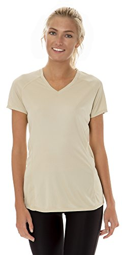 $18.99 (ATW2010) AeroskinDry Womens Short Sleeve Tech Tee in Sand