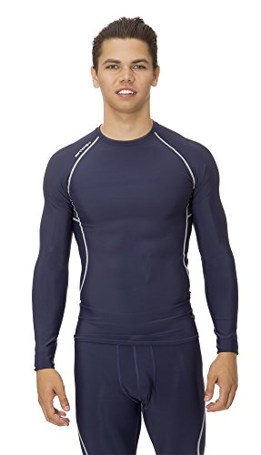 $24.50 (C1002) AeroskinDry Mens Compression Long Sleeve Tee in Navy