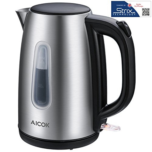 Aicok Electric Kettle Premium 304 Stainless Steel Tea Kettle