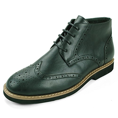 $44.99 Alpine Swiss Geneva Men's Ankle Boots Brogue Medallion Wing