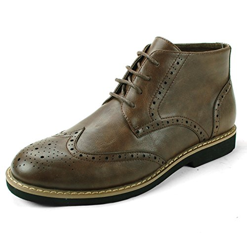 Alpine Swiss Geneva Men's Ankle Boots Brogue Medallion Wing