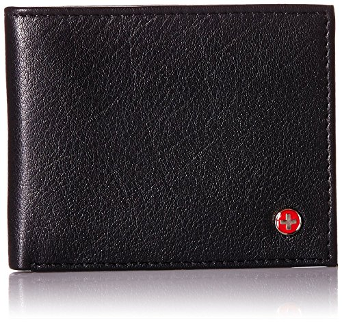 $24.99 Alpine Swiss Men's RFID Blocking Genuine Leather Slim Bifold