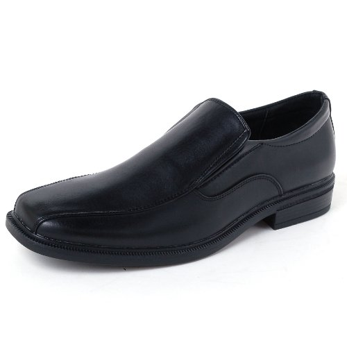 $34.99 Alpine Swiss Mens Dress Shoes Black Leather Lined Slip