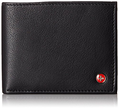 Alpine Swiss RFID Blocking Men's Leather Wallet Stops Electronic