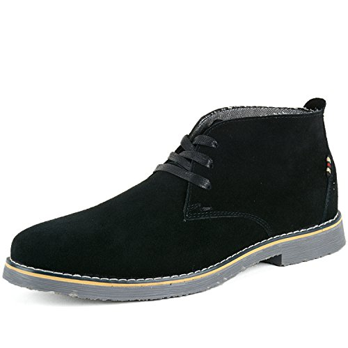 $44.99 Alpine Swiss Beck Mens Black Genuine Suede Chukka Desert