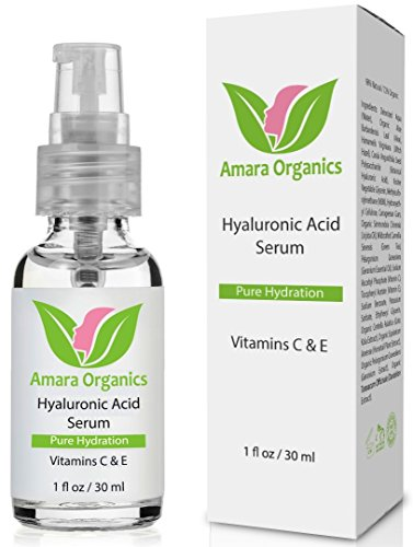 Amara Organics Hyaluronic Acid Serum for Skin with Vitamin