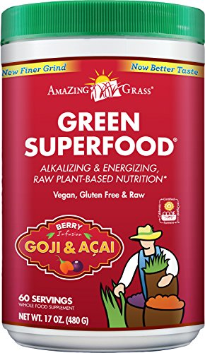 Amazing Grass Green SuperFood Berry, 60 Servings, 17 Ounces
