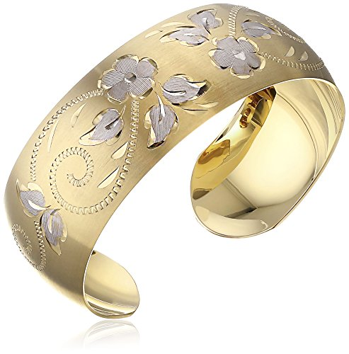 $112.87 14k Yellow Gold-Filled Hand Engraved Cuff Bracelet
