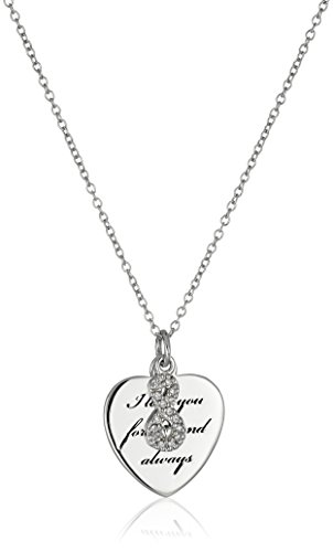 """Sterling Silver """"I Love You Forever and Always"""" Heart"""