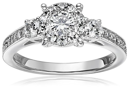 $1599.99 14k White Gold Unity Diamond Engagement Ring (1 cttw,