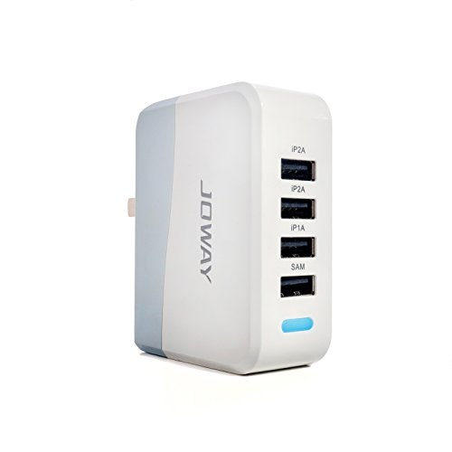 4-Port Universal USB Wall Charger with Intelligent ID Charging