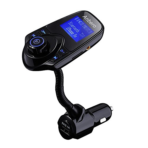 Anbero Wireless In-Car Bluetooth FM Transmitter Adapter with USB