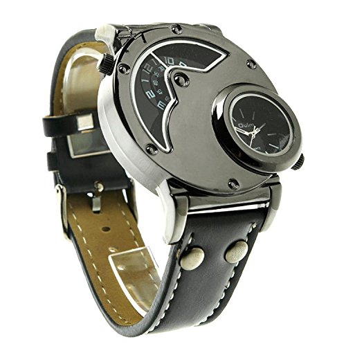Aposon Mens Dual Time Quartz Analog Wrist Watch with