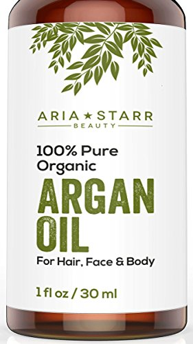 Aria Starr Beauty ORGANIC Argan Oil For Hair, Skin