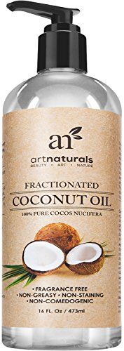 Art Naturals Fractionated Coconut Oil 16 oz 100% Natural