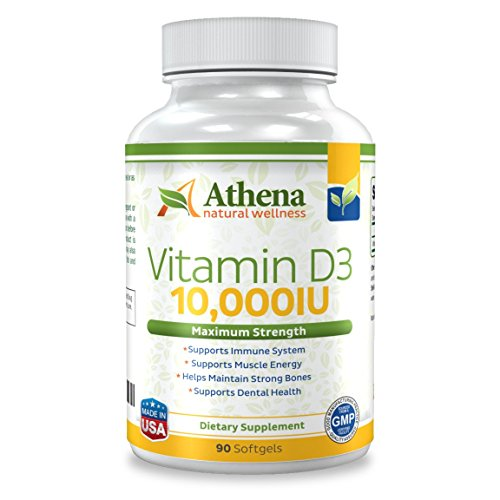 Athena - Vitamin D3 10,000IU High Strength - 90