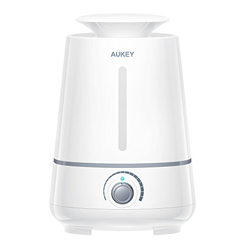 AUKEY Humidifier, 3.5L Ultrasonic Cool Mist Aroma Humidifier, Waterless