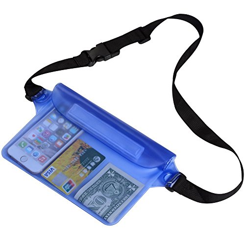 Waterproof Pouch,Seal bag with Waist shoulder Strap Dry and