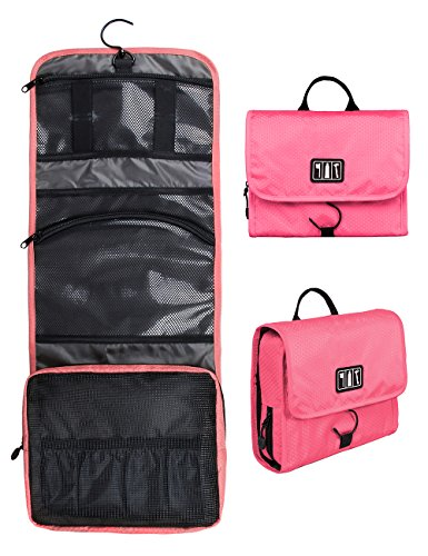 BAGSMART Hanging Travel Toiletry Bag Cosmetic Carryon Case Folding