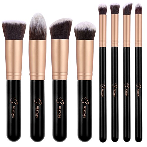 BESTOPE Makeup Brushes Premium Cosmetic Makeup Brush Set Synthetic